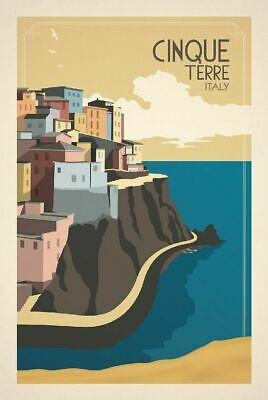 """Vintage Cinque Terre Italy Poster Travel Photo Fridge Magnet 2""""x 3"""" Collectibles"""
