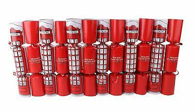 Box Of 12 London Design Family Crackers - Christmas Party Decoration (ES252)