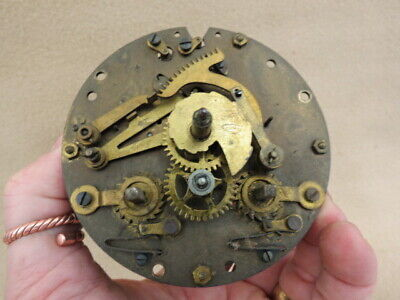 Antique Hac Striking Clock Movement For Spare Or Repair