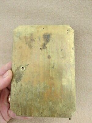 Antique Style Brass Lantern Clock Back Door For Spares Or Repair