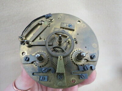 Antique Japy Freres Striking Clock Movement For Spares Or Repair