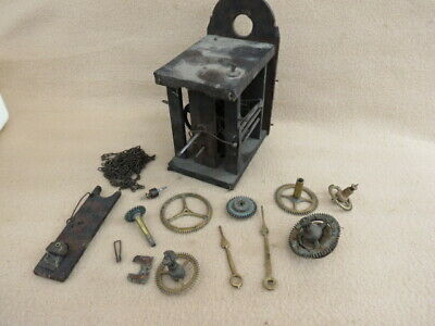 Small Antique Black Forest Wall Clock Movement For Spares Or Repair