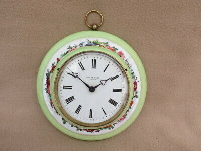 Antique French Henry Marc Paris Porcelain Wall Clock For Tlc