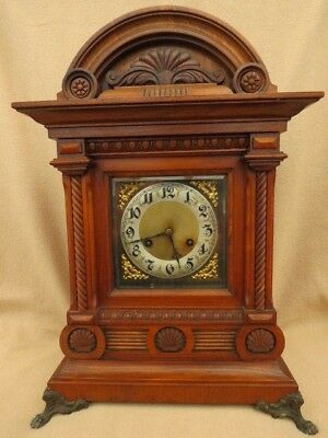 Very Large Antique Junghans Ting Tang 1/4 Chime Bracket Clock