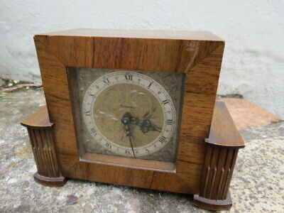 Small Vintage Art Deco Style Working Rotherhams Mantel Clock