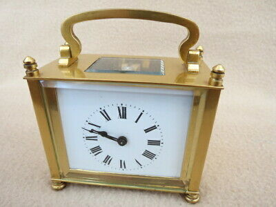 Antique/Vintage French Brass 8 Day Oblong Carriage Clock