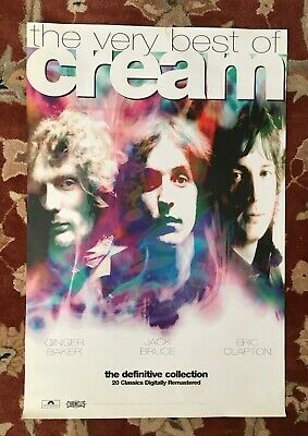 CREAM  The Very Best Of  original promotional poster  ERIC CLAPTON  GINGER BAKER