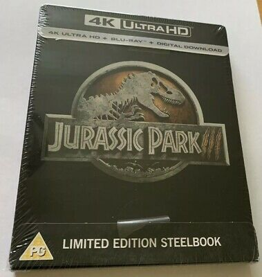JURASSIC PARK III 4K ULTRA HD & BLU RAY STEELBOOK New & Sealed