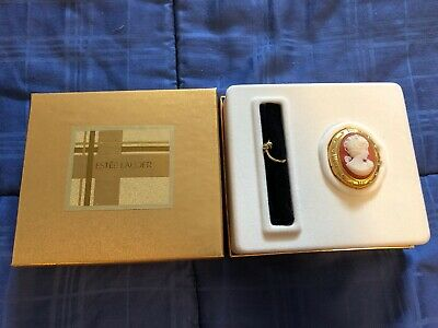 Estee Lauder CAMEO Gold Youth Dew Solid Perfume Compact 2001 New In Box