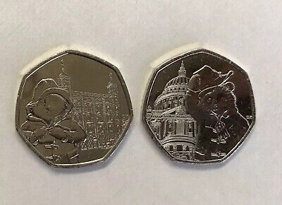 Uncirculated Set of 2 Paddington 2019 50p's: St. Paul's Cathedral & London Tower