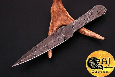 Hand Forged Damascus Steel Throwing Boot Dagger Knife Blank Blade  Aj 651