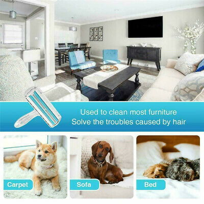 US Pet Hair Remover Sofa Clothes Lint Cleaning Brush Reusable Dog Cat Fur Roller