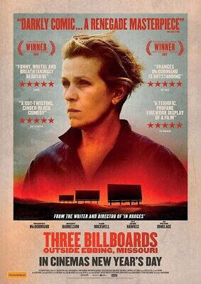 THREE BILLBOARDS OUTSIDE EBBING, MISSOURI 2017 Frances McDormand – Film Poster