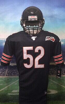 Men's Khalil Mack Navy Chicago Bears 100th Anniversary NFL Stitched Jersey