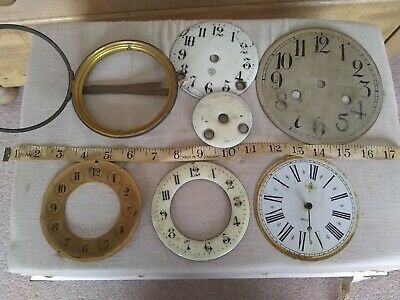 Antique Clock Dials Faces etc