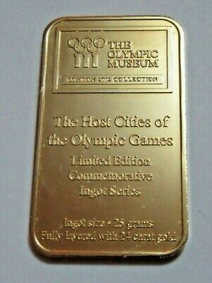 2012 Olympic Musuem London Olympic Games Gold-plated Proof Ingot