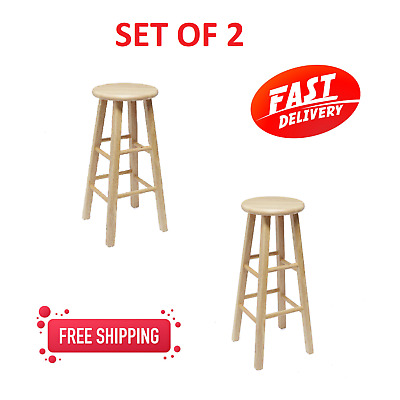 Enjoyable Wooden Bar Stool 24 Inches Fully Assembled Natural Wood Gmtry Best Dining Table And Chair Ideas Images Gmtryco
