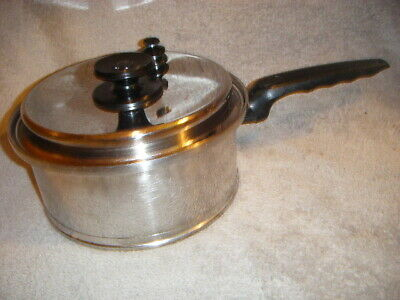 Lifetime Multi Core 6-Ply T304 Cc Ss  3 Qt Sauce Pot/Pan & Steam Vapo Vent Lid