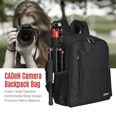 Large DSLR Camera Backpack Shoulder Bag Compact Photography Case Waterproof O7U5