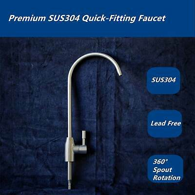 Premium Complete Stainless Steel 304 Tap RO Drinking Water Filter Faucet110
