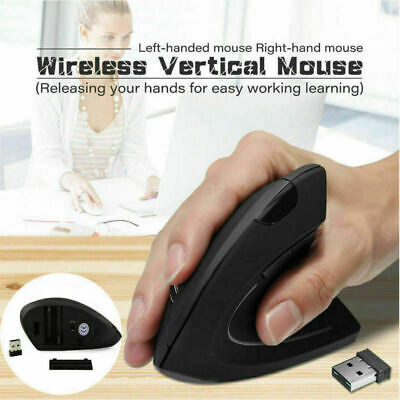 USB Wireless 2400DPI 2.4GHz Ergonomic Vertical Gaming Mouse Optical Mice for PC