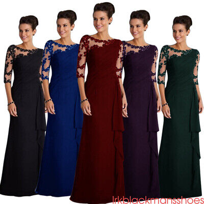 Womens Bridesmaid Prom Ball Gown Formal Evening Party Cocktail Maxi Dress UK6-22