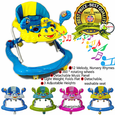 Top Quality Baby Walker Push Bouncer Activity Musical Melody Toy Along Ride On