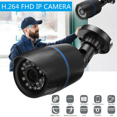 Security Wired IP Network Audio Camera HD IR 1080P Outdoor Onvif APP Motion