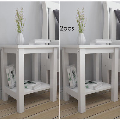 Pair of Bedside Tables Small Coffee Table Night Stand Telephone Side Cabinets