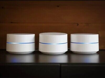 Google AC1200 Whole Home WiFi System (3 Pack)-GA00158-US Plug. Will Send UK Adpt