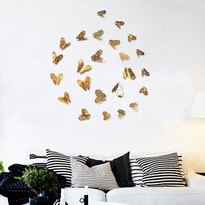 12x Christmas 3D Butterfly Wall Stickers Home Decor Room Decor Sticker Bedroom V