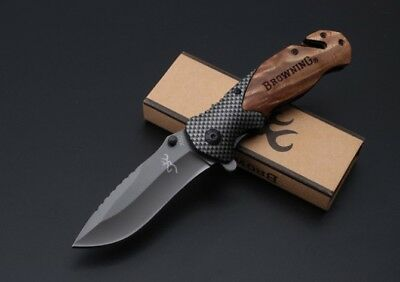 BROWNING X50 Folding Tactical Pocket Knife Hunting Camping Hiking Fish Survival