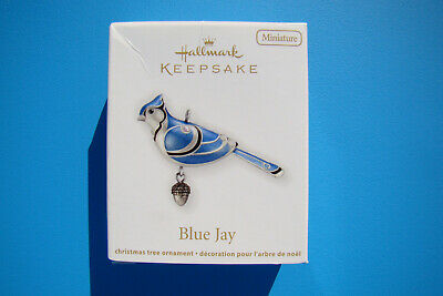 New Hallmark Blue Jay Miniature Beauty Of Birds 2012 #3 Ornament Damaged Box - G