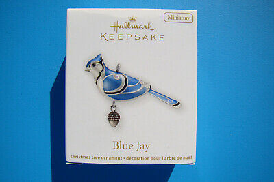 New Hallmark Blue Jay Miniature Beauty Of Birds 2012 #3 Ornament Damaged Box - H