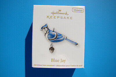 New Hallmark Blue Jay Miniature Beauty Of Birds 2012 #3 Ornament Damaged Box - I