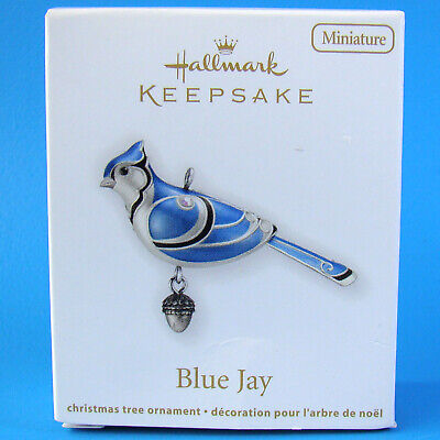 New Hallmark Blue Jay Miniature Beauty Of Birds 2012 #3 Ornament Damaged Box - K