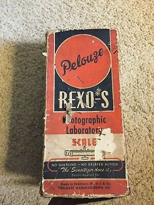 Vintage Pelouze Rexo-s Photographic Laboratory Scale USA With Box And Weights