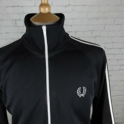 Men's Fred Perry Track Jacket Tracksuit Top Retro Casual Mod Indie Britpop Large