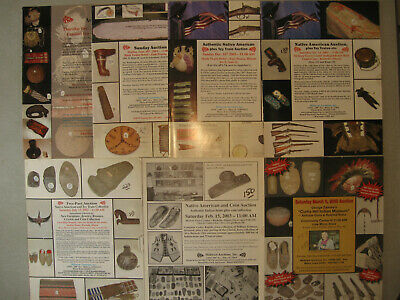 7 Midwest Auctions Catalogs, Prehistoric Historic American Indian Artifacts