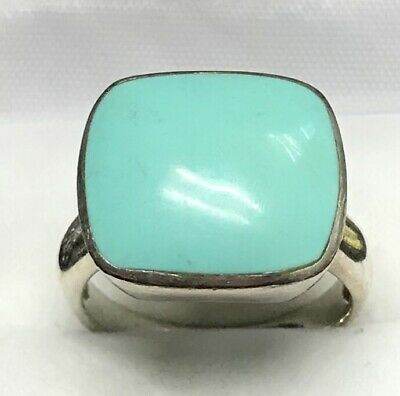 Amazing 925 Silver Ring Turquoise Woman Charm Ring