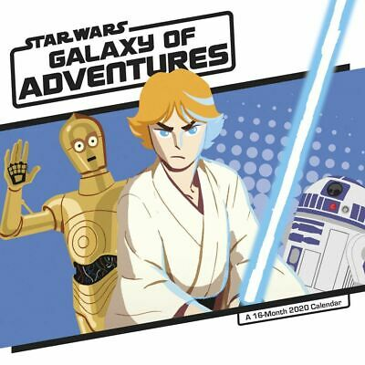 Star Wars Galaxy of Adventures Wall Calendar with All Major Holidays 2020