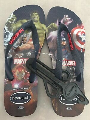 HAVAIANAS MENS EXCLUSIVE MARVEL / AVENGERS FLIP FLOPS SIZE 41-42 NEW with TAGS!!