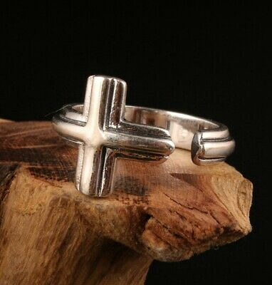 Unique China 925 Silver Hand-Carved Cross Ring Exclusive Custom Collection