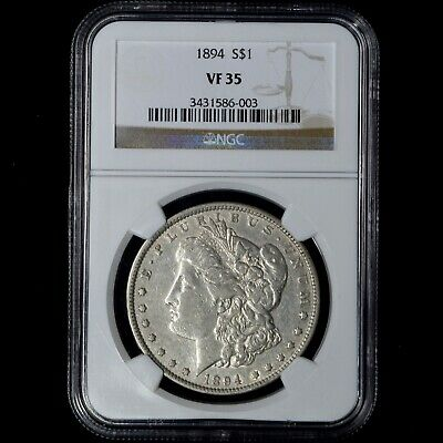 1894 $1 Morgan Silver Dollar Ngc Vf35 Key Date Us Coin