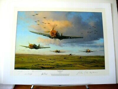 Battle of Britain 70th Anniversary Robert Taylor Ace Signed Aviation Art 3 Print