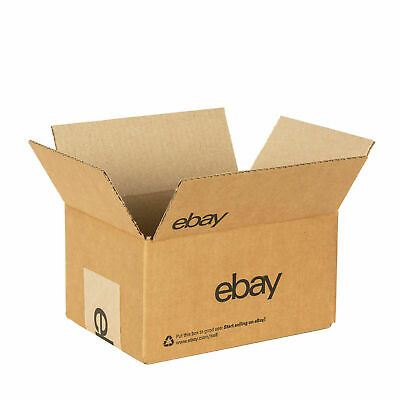 "2 eBay Official Branded Boxes With Black Color Logo 8"" x 6"" x 4"" Brand New"