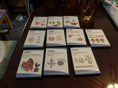 Lot of 10  DVD s Floriani Embroidery Design Collections for Home Embroidery Mach