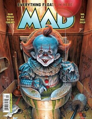 FINAL ISSUE MAD MAGAZINE #10 December 2019 Halloween Issue Pennywise the clown