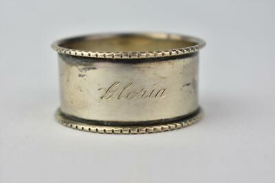 Vintage Sterling Silver Napkin ring, engraved, Gloria