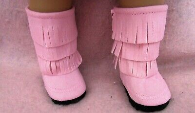 Fringe Suede  Boots fit American Girl Doll 18 Inch Clothes Seller lsful